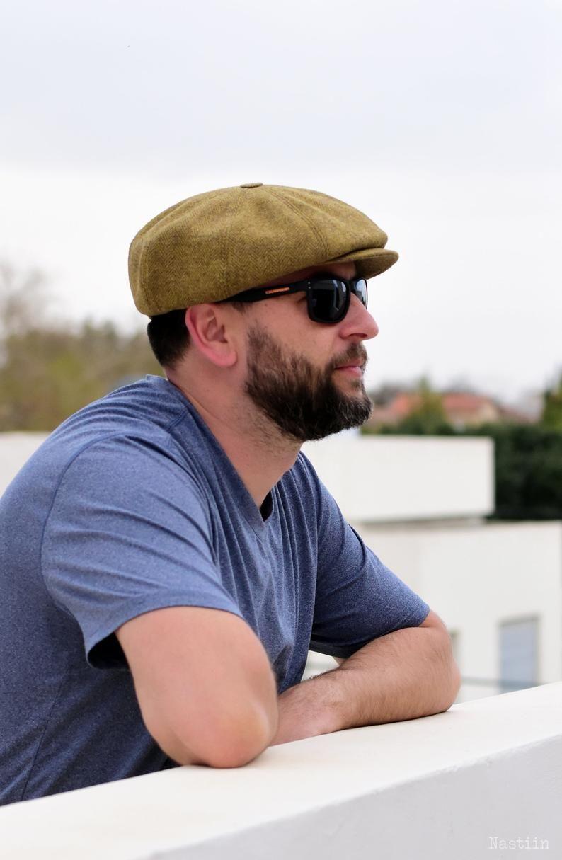 Mustard herringbone hat Mens newsboy cap Peaky Blinders hat | Etsy | Newsboy  cap, Mens newsboy hat, News boy hat