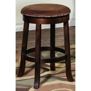 """Check out the Sunny Designs 1782DC Santa Fe 24""""H Swivel Barstool without Back in Dark Chocolate priced at $127.50 at Homeclick.com."""
