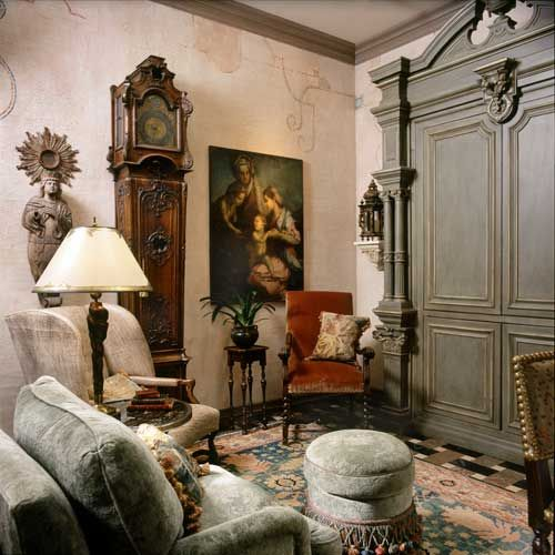 Italian And English Keeping Room Designed By Nancy Anderson Ross, Dallas  Design Group Interiors.
