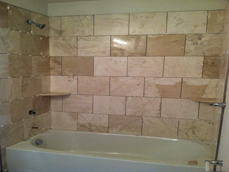 Simple Bathtub Shower Tile Designs | Bathroom Ideas | Pinterest ...