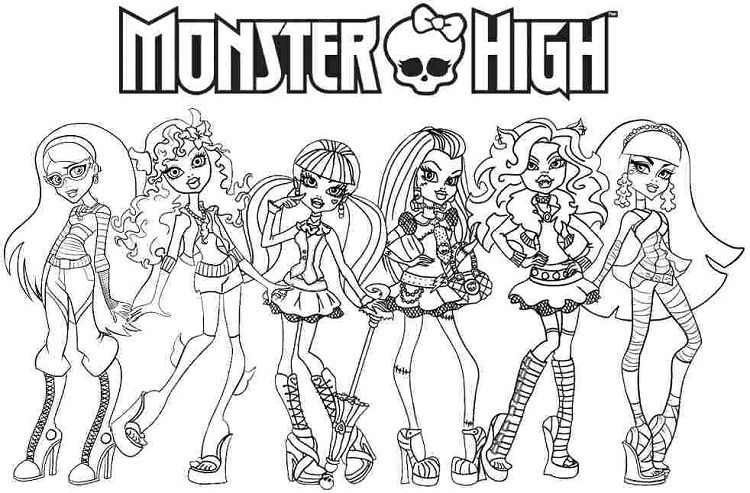 Monster High Coloring Pages Full Page