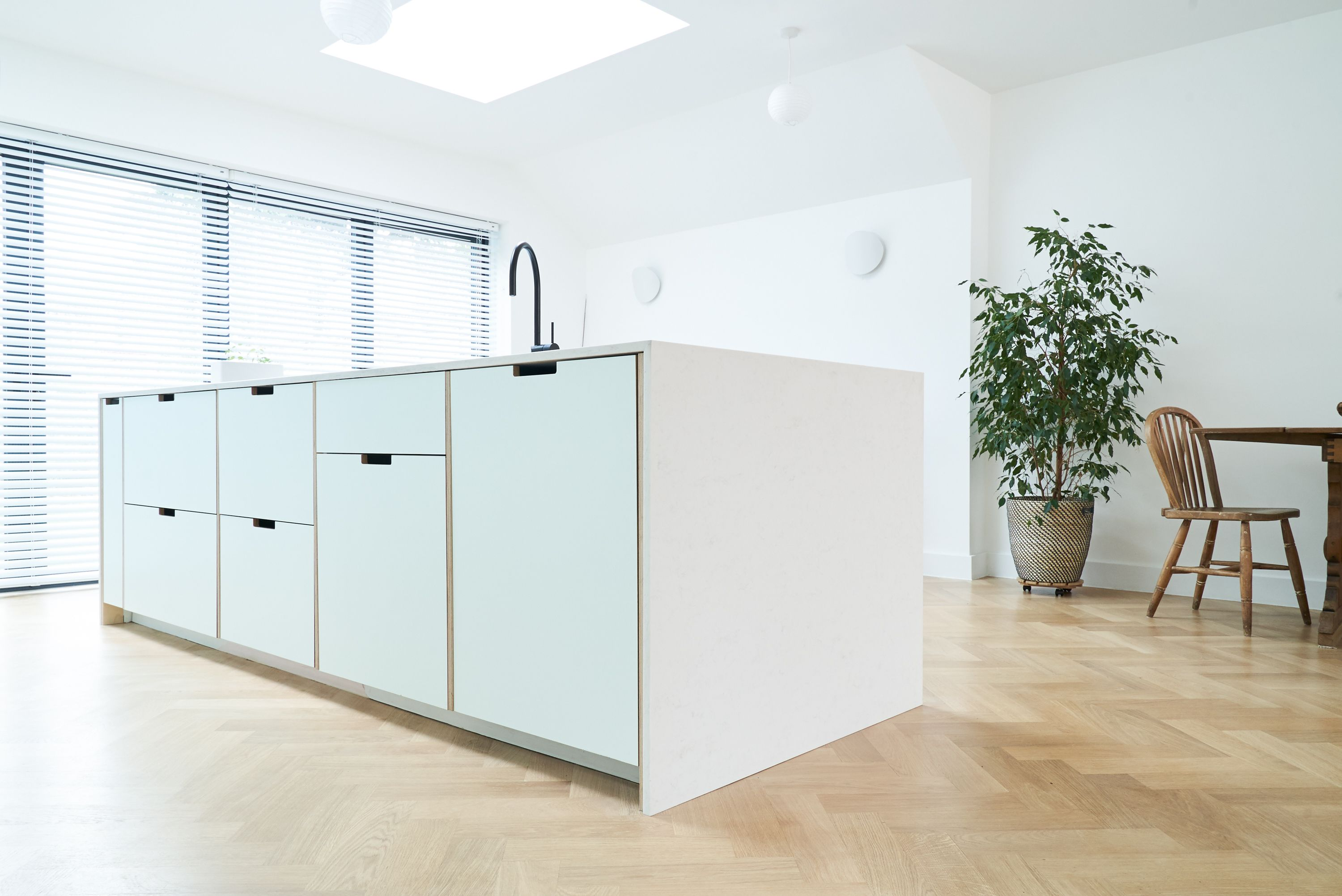 Plykea Kitchens Formica Faced Plywood Kitchen Using Ikea Base Units And Plykea Doors And Drawer Fronts Plywood Kitchen Ikea Kitchen Kitchen Plans