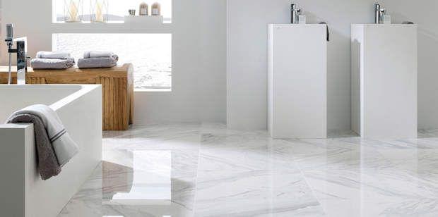 Carrelage Effet Marbre Blanc Porcelanosa Salle De Bain Design Salle De Bains Moderne Carrelage Blanc