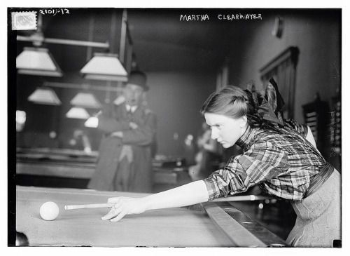 Martha Clearwater showing the lads how it's done. c1910