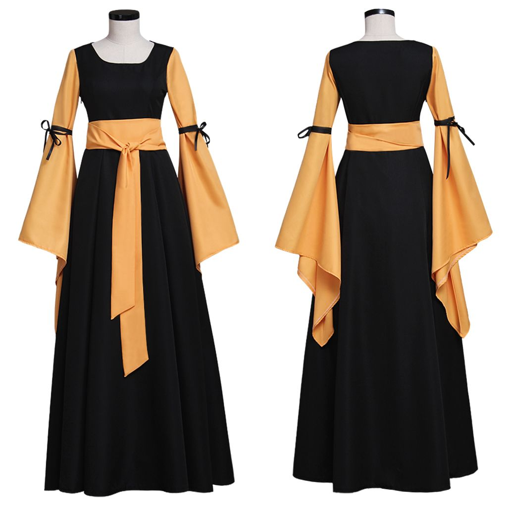 Medieval Victorian Women Costume Dress