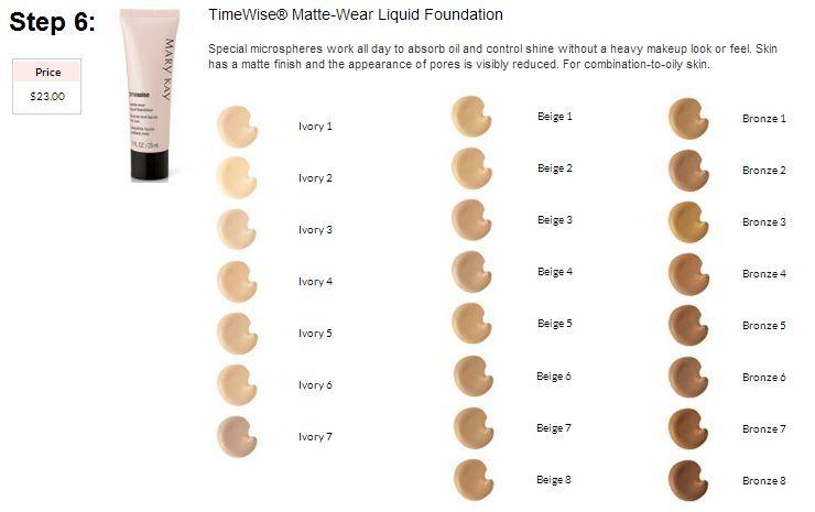 Mary Kay Mineral Powder Foundation Color Chart Vivostar