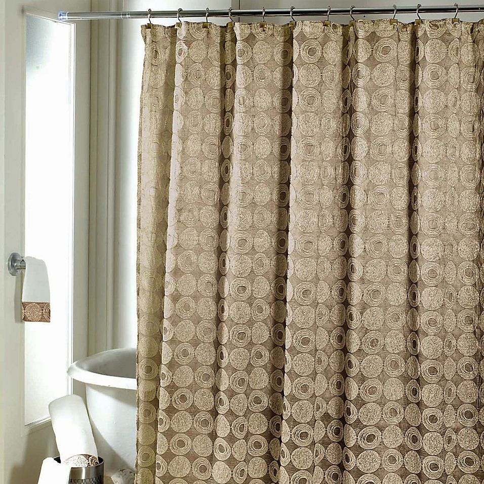 Avanti Galaxy Shower Curtain In Gold Fabric Shower Curtains