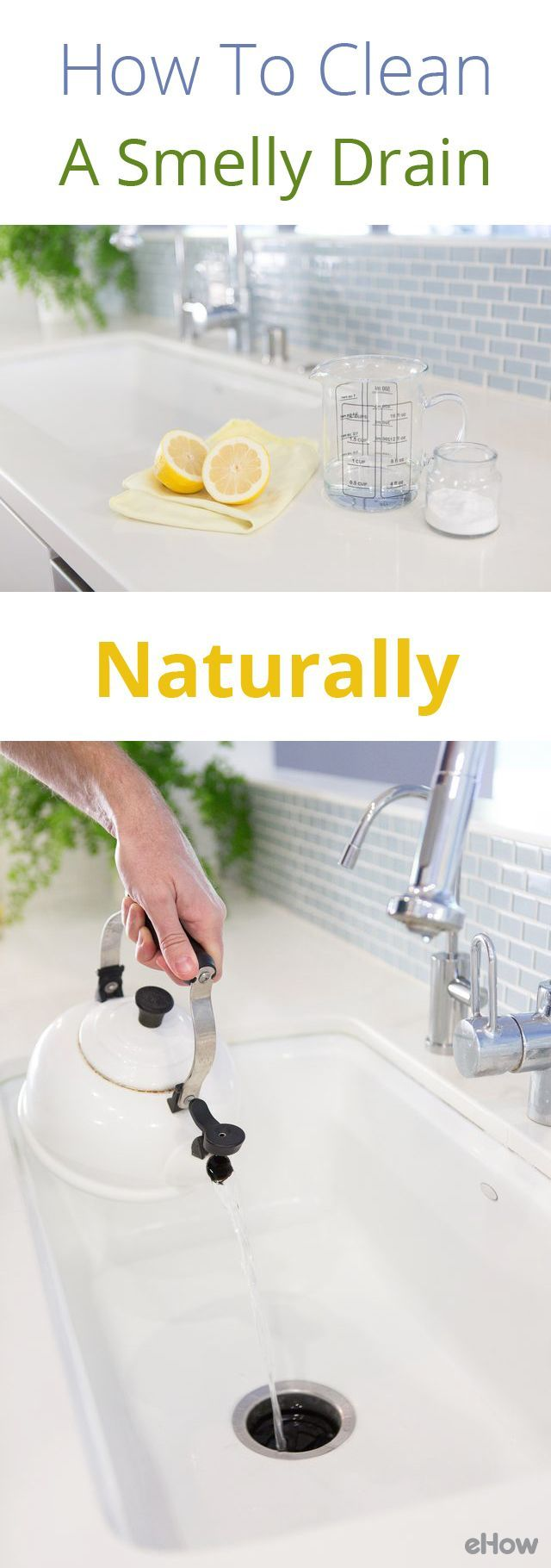 How to naturally clean a smelly drain smelly drain and - How to clean bathroom sink drain ...