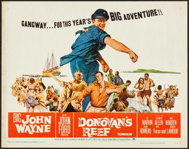Movie Posters:Comedy, Donovan's Reef (Paramount, 1963). Half Sheet ...