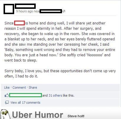The Web Babbler Funny Facebook Comments
