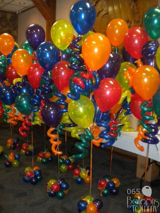 Balloons by tommy photo gallery bouquets fabu loons for Balloon arrangement ideas