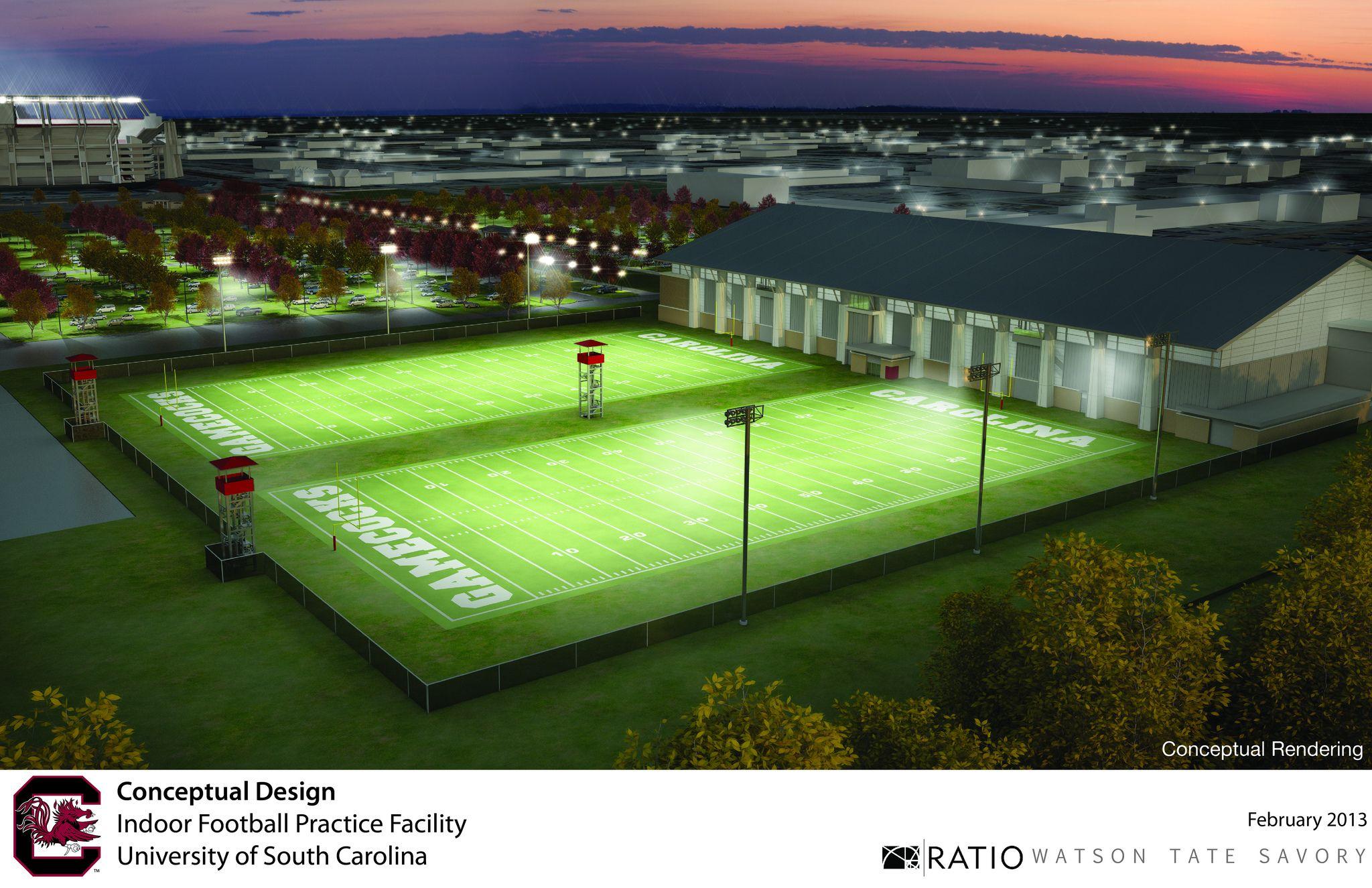 Football Indoor Practice Facility Conceptual Rendering Sportsplex Soccer Field Football Field