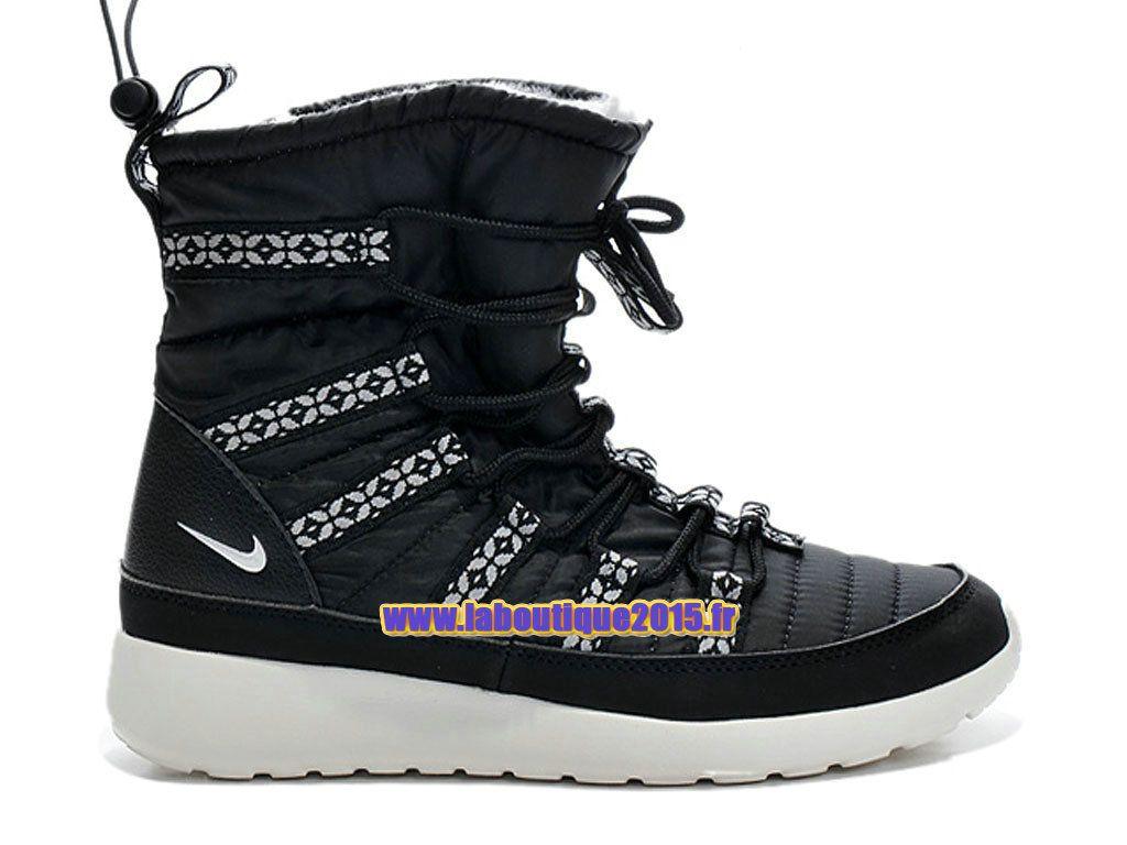 official photos b3edd 90115 Nike Roshe One Hi GS - SneakerBoot Nike Pas Cher Pour Femme/Fille Noir/Blanc  615968-002