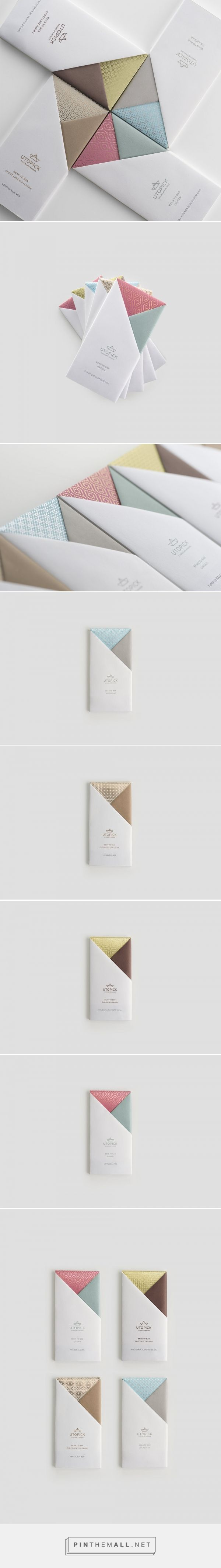 A Lovely Chocolate Bar that's Packaged with Origami #userexperience