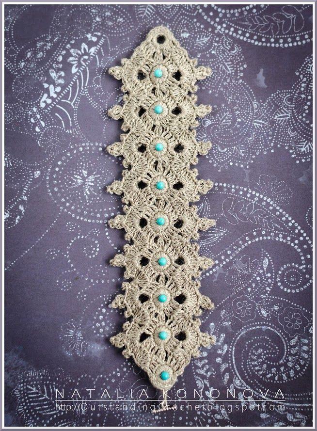 Beautiful crocheted bracelet - Outstanding Crochet | mi pasatiempo ...