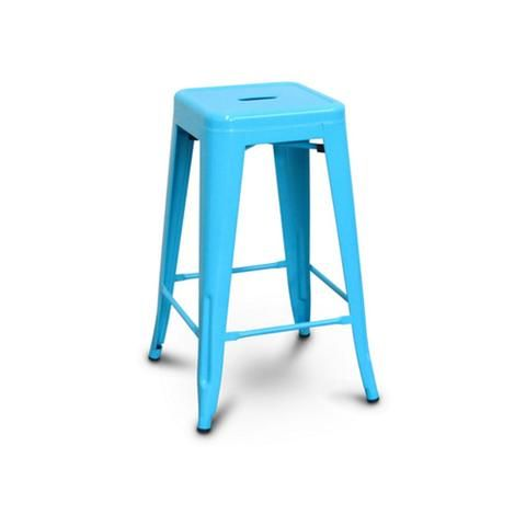 All Metal Tolix Bar Stool Blue Bar Amp Counter Stools