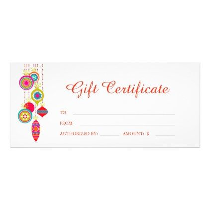 Festive christmas seasongift certificate template Certificate