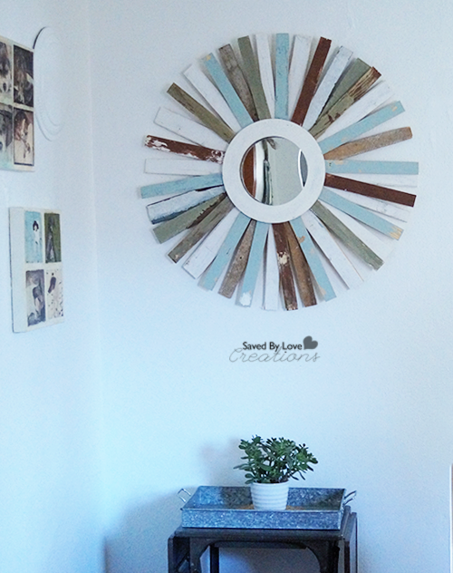 diy distressed starburst mirror for 5 saved by love creations