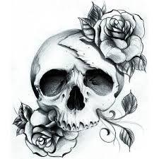 Resultado De Imagen Para Black And White Sugar Skull Girl Tattoo Pretty Skull Tattoos Skull Rose Tattoos Tattoos