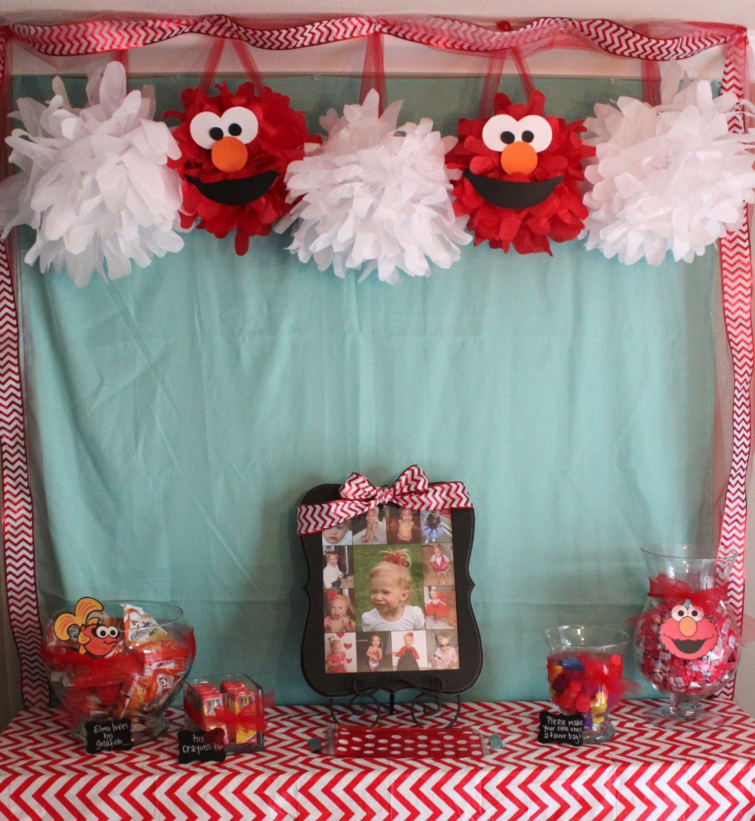 Handmade Happiness Elmo 2nd Birthday Party