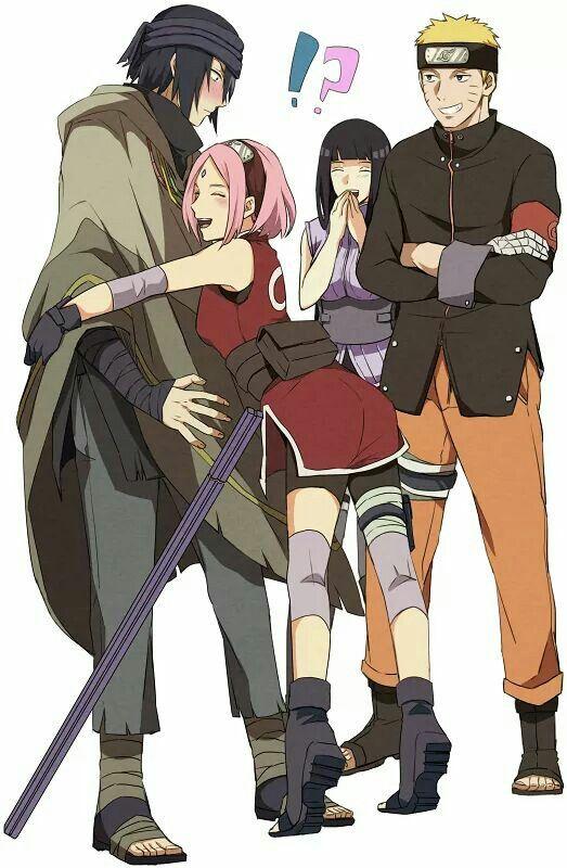 Sakura Sasuke Vs Naruto Hinata Sasusaku Cute Naruto