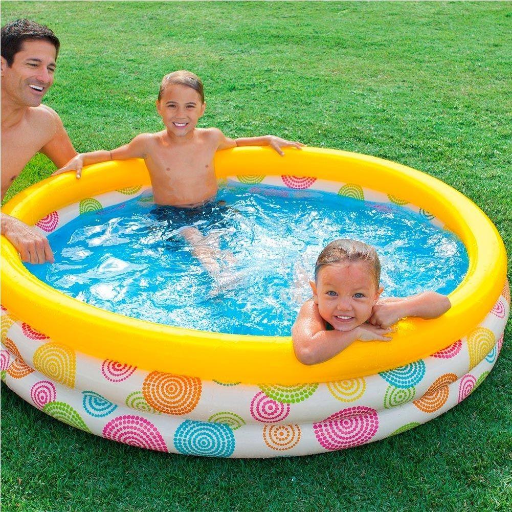 Piscina Gonfiabile Per Bambini 3 Anelli 147 X 33 Cm Giardino