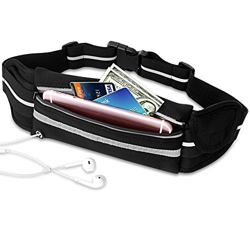 1702b5510dd5 Running Belt VCOO Fanny Pack for Phones including iPhone 7 7 Plus 6s ...