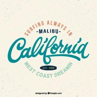 Vintage california surf badge | ГРАФИЧЕСКИЙ ДИЗАЙН / GRAPHIC DESIGN