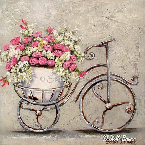 Ideia de quadro flores lindas pinterest bicicleta - Laminas decorativas vintage ...