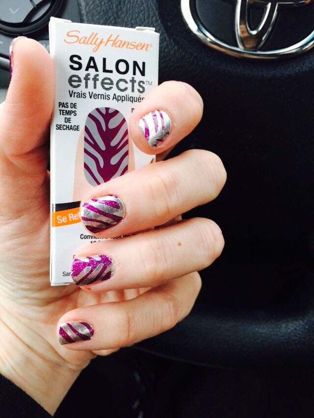 Sally Hanson salon effects. Stickers that look like a great mani. Super easy to use. Love!