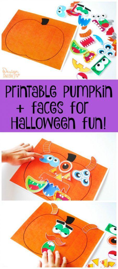 Printable Pumpkin Faces - Kids Halloween Activity Free halloween - free halloween decorations printable