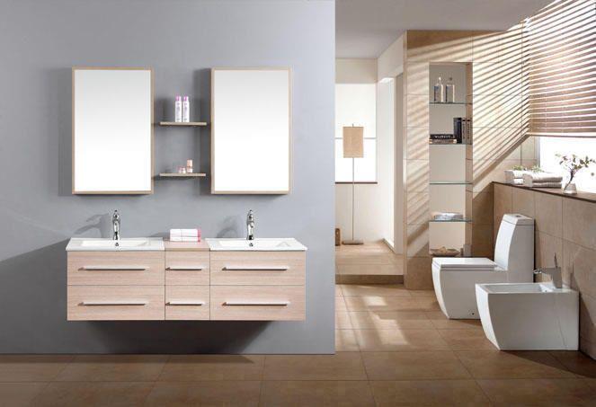Ensemble meuble salle de bain TODO ( Rangement 1400mm ) Meuble salle de bain double vasques TODO ,Rangement 1400mm [BMC1447] :