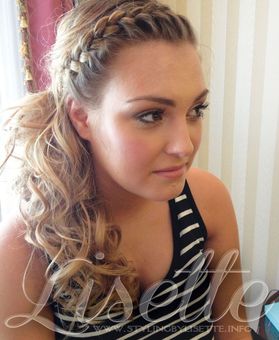 perfect side ponytail with braid for wedding, bride