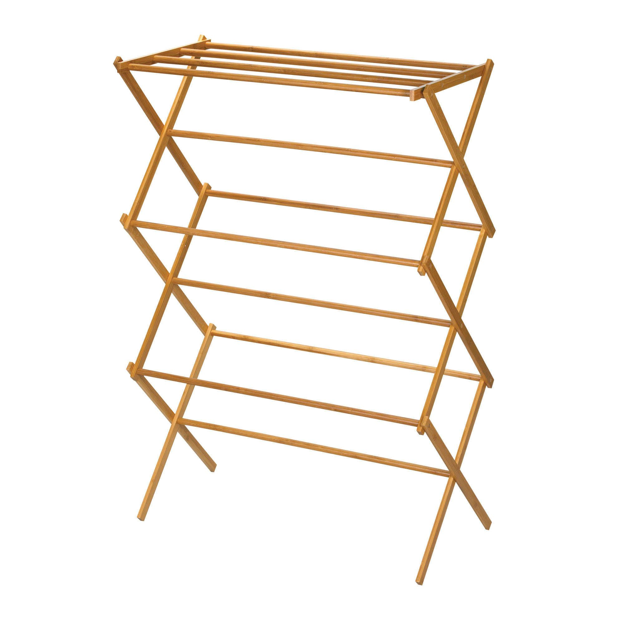 Household Essentials Bamboo X Frame Clothes Drying Rack Is Made