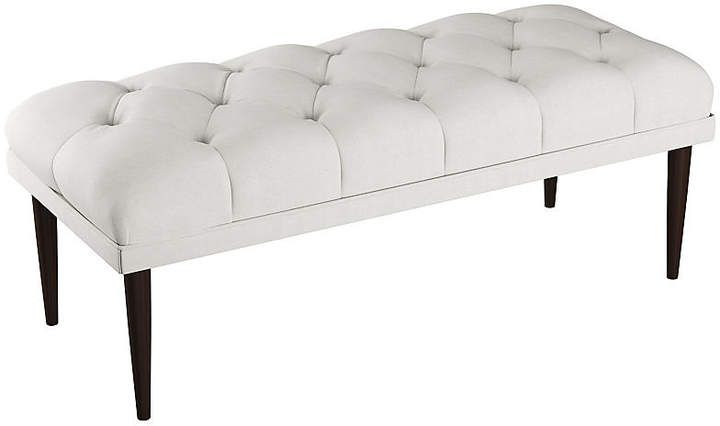 Carrie Tufted Bench White Tufted Bench Bench Furniture White Bench Entryway
