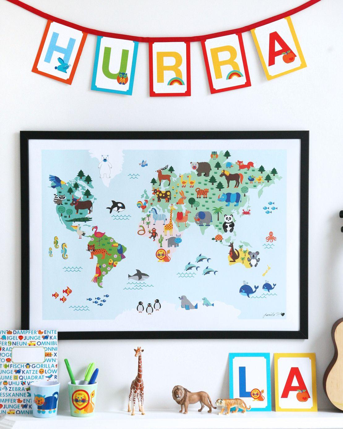 Weltkarte Poster In 2020 Poster Kinderzimmer Weltkarte Poster