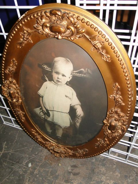 Antique frame and picture with curved glass. Beautiful! | FRAMES ...