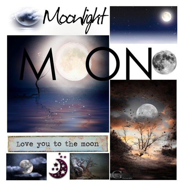 """""""MOON"""" by grozdana-v ❤ liked on Polyvore featuring art"""