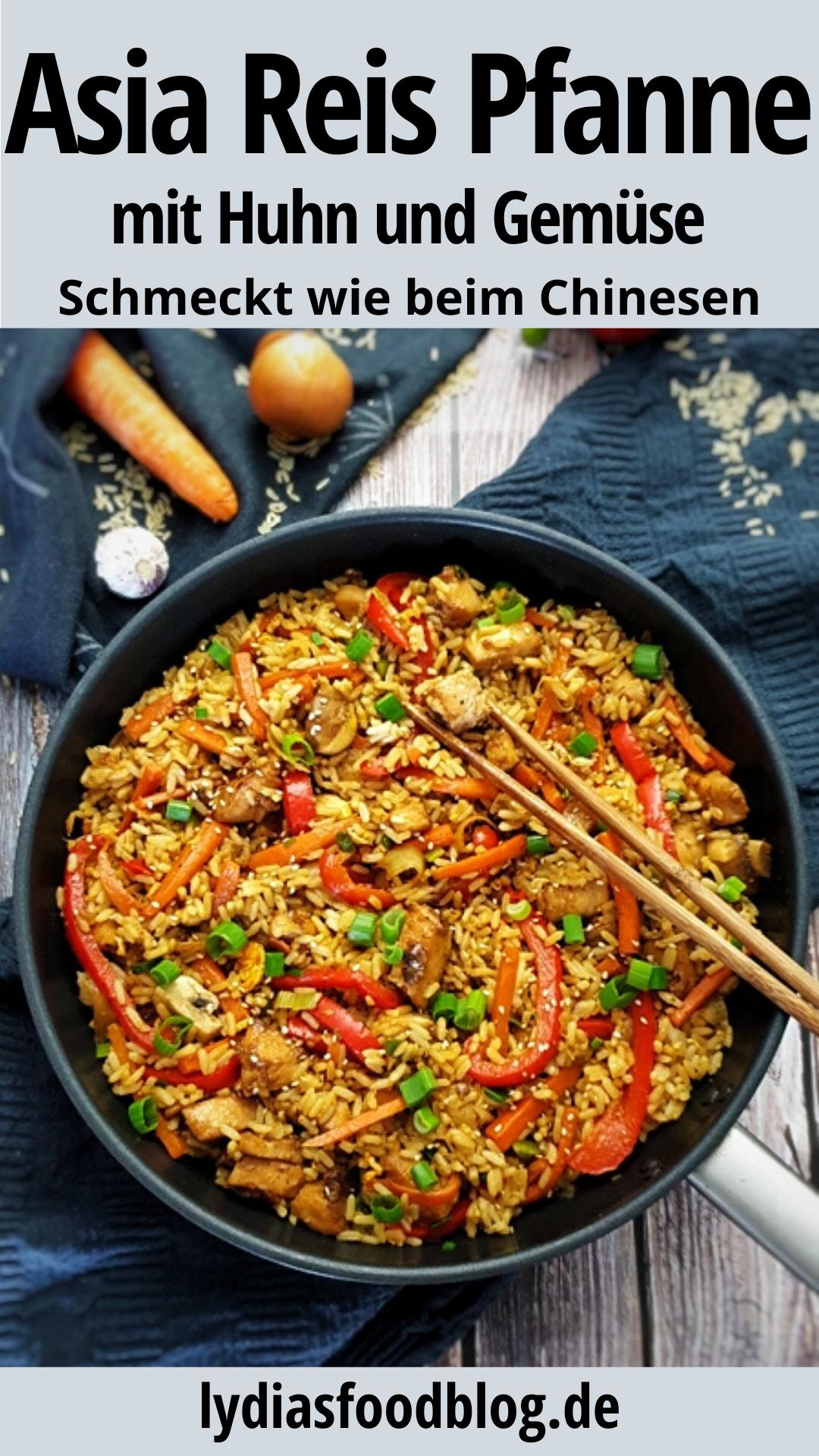 Gebratener Reis mit Huhn und Ei, Rezept