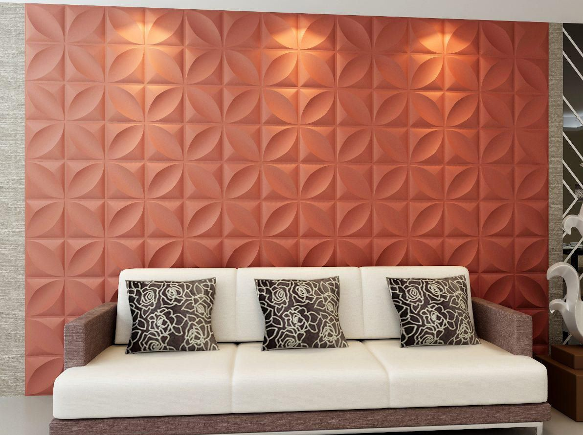 Decorativas placas gesso 3d pinterest revestimento - Placas para paredes ...
