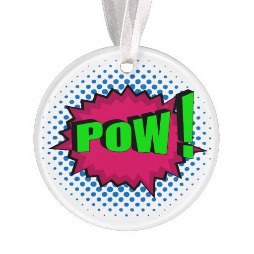 For Pop Art And Superhero Fans Pop Art Comic Pow Ornament Pop Art Comic Pop Art Superhero Christmas