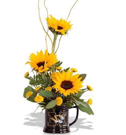 Mizzou Celebration Sunflower Arrangements Small Flower Arrangements Unique Floral Arrangements