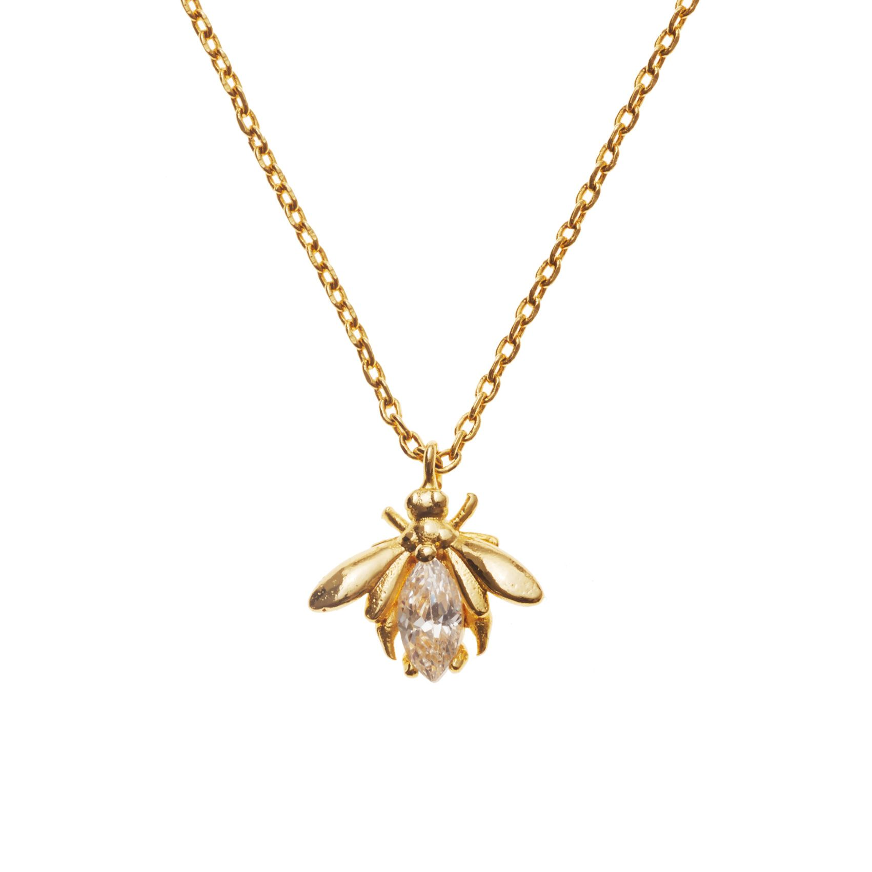 Buy The Gold Vintage Bumble Bee Necklace At Oliver Bonas Enjoy Free Worldwide Standard Delivery For Orders Over GBP50