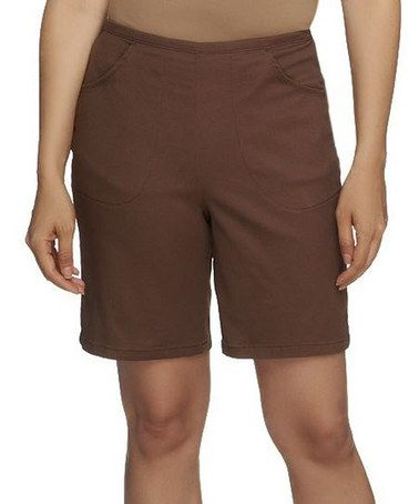 This Chocolate How Timeless Bermuda Shorts - Plus Too is perfect! #zulilyfinds