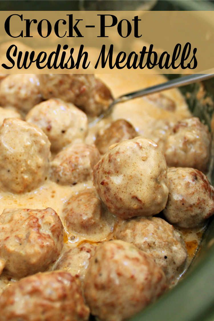 Super Simple Crock-Pot Swedish Meatballs | Day By Day in Our World