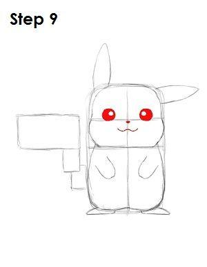 Draw Pikachu Step 9 In 2020 Pikachu Drawing Pikachu Drawing Tutorial
