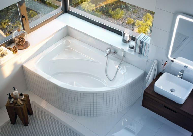Vasca Da Bagno Esprit : Come arredare un bagno piccolo vasca da bagno angolare mobile in