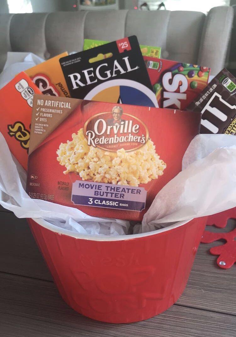 Diy Gift Basket Popcorn Popcorn Gift Basket Diy Gifts