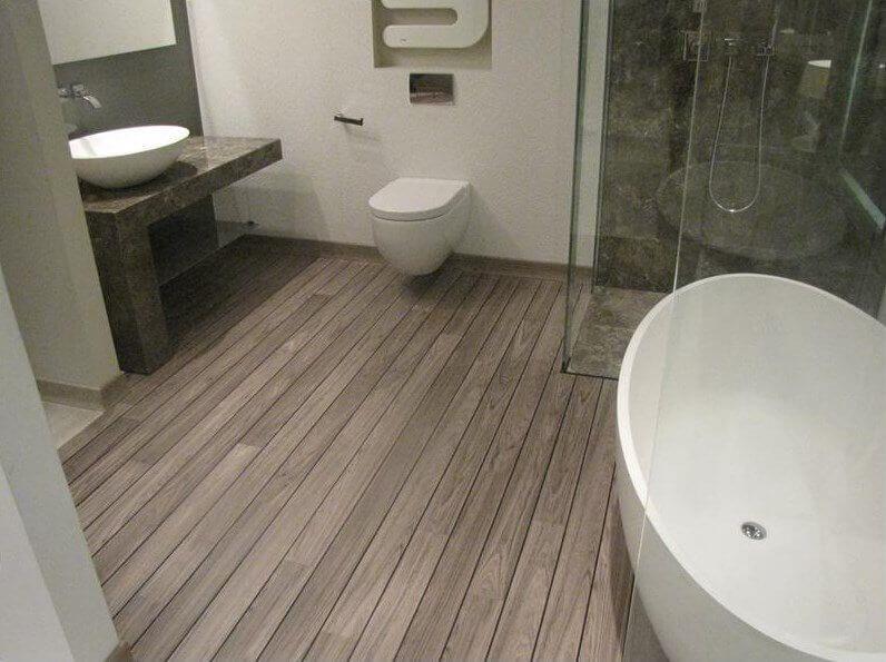 Laminate Wood Flooring In Bathroom Bathroom Decor Ideas Bathroom Decor Ideas Waterproof Bathroom Flooring Wood Floor Bathroom Bathroom Flooring