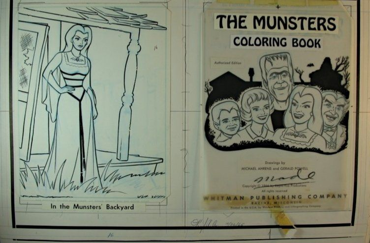 addams family tv show coloring book Herman Munster